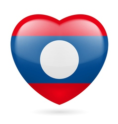 Heart icon of laos vector