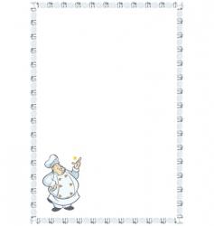 recipe card vector image