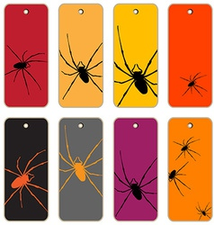 Spiders price tags vector