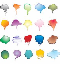 Smoke speech bubbles vector