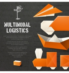 Origami logistic background vector