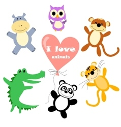 Animals for kids vector