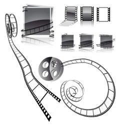 Frames with film strips vector