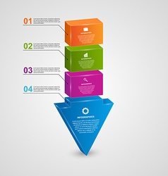 Abstract 3d arrow infographic design concept vector