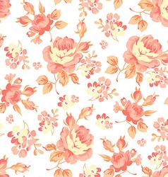 Floral pattern with orange roses vector