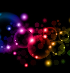Soap colorful bubbles on black background vector