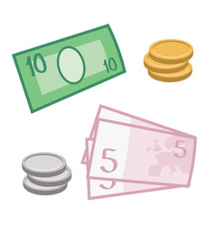 Currency and coins vector