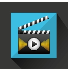 Media player interface design vector