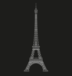 Thin line eiffel tower icon vector