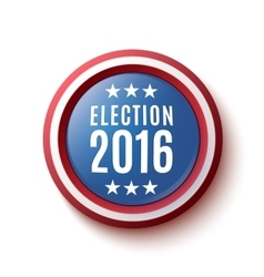 Presidential election 2016 button vector