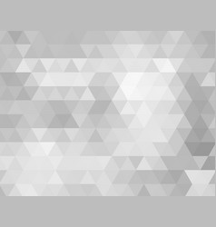abstract grey low polygon background vector image vector image