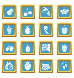 berries icons azure vector image vector image