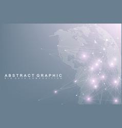 Big data complex world globe graphic abstract vector