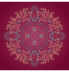 Circle ornament ornamental round lace vector image