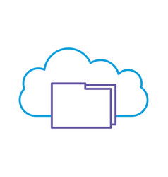 cloud computing with folder vector image