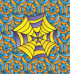 color spiderweb art vector image
