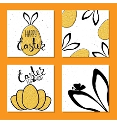 Colorful set printable card for easter with easter vector