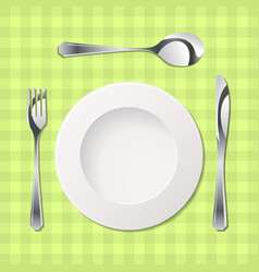 Cutlery with gradients vector
