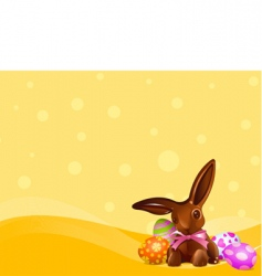 Easter chocolate bunny background vector