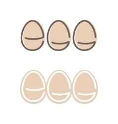 Egg Shape Logo Set Minimalism Style Logotype vector image vector image