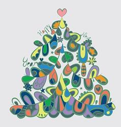 Fir tree art vector