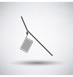 Fishing feeder net icon vector