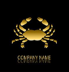 golden crab symbol vector image vector image