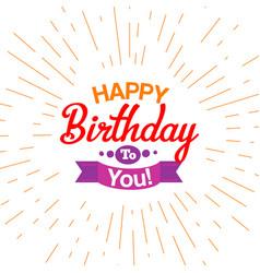 Happy birthday typography card vector