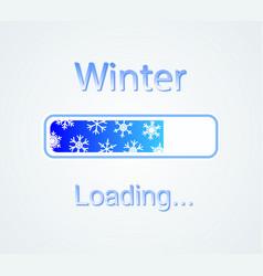 Inscription loading winter concept vector