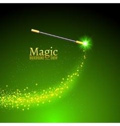 Magic wand background miracle magician vector