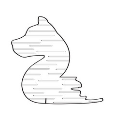 Number two with dog shape vector