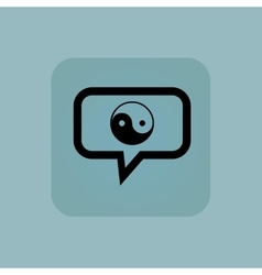 Pale blue ying yang message vector