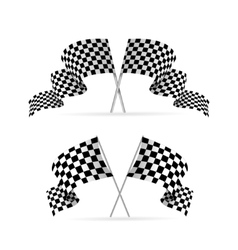 Racing Flag Avto Set vector image
