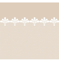 Seamless lacy border vector image vector image