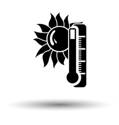 summer heat icon vector image