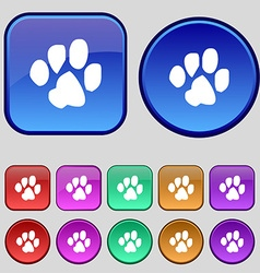 trace dogs icon sign A set of twelve vintage vector image