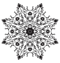 Traditional oriental floral ornament vector