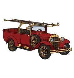 Vintage firetruck vector image
