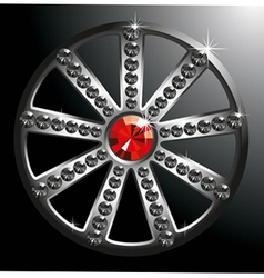 Expensive silver diamond wheel p2 vector