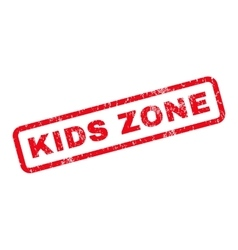 Kids zone rubber stamp vector