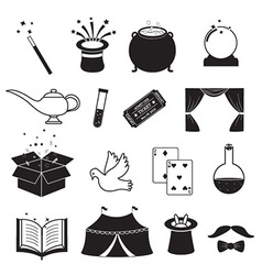 Magic related icons set vector