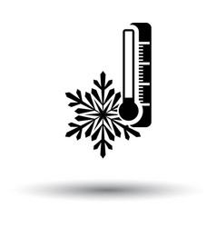 Winter cold icon vector
