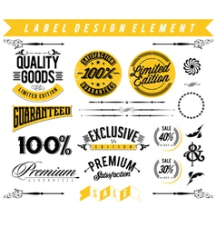 Label design element vector