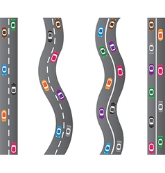 Cars on roads vector