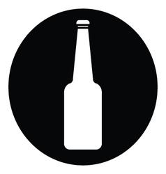 Blue glass bottle icon vector