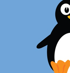 sweet and cute penguin color vector image