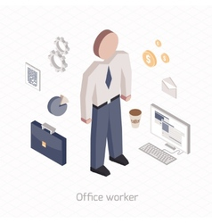 Office worker vector