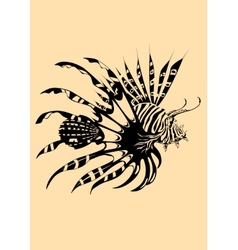 Lion fish vector