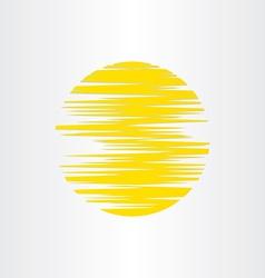 sun stylized abstract energy icon alternative vector image