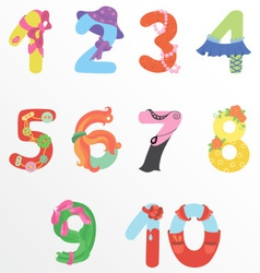 Numbers like woman symbols vector